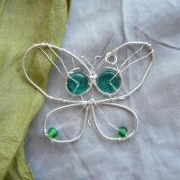 Fluture cu sticla verde VANDUT
