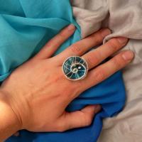 Disc de sticla albastra