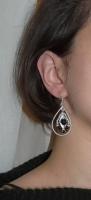 Onix, cristale, margelute argintate, fire de sarma argintata