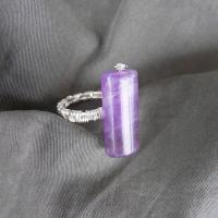 Round violet mirror VANDUT