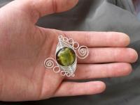 Sticla de Murano cu foita de argint si fire de sarma argintata