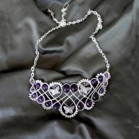 Lavender field colier
