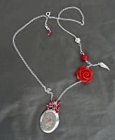 Vintage rose colier cu pandantiv tip locket