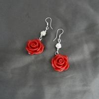 Vintage rose cercei VANDUT