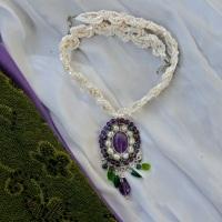 Purple green silk