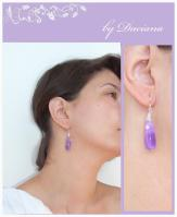 handmade ametist silver earrings jewelry bijuterii cercei argint