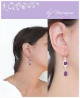 handmade ametist silver earrings jewelry cercei bijuterii argint