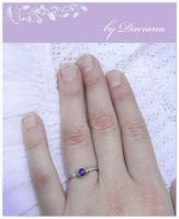 handmade ametist silver ring jewelry bijuterii inel argint