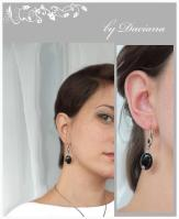 handmade onyx silver earrings jewelry cercei bijuterii argint onix on