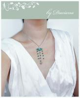handmade vintage malachit silver pendant necklace jewelry bijuterii pandativ colier argint malahit on