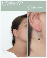 malachit earrings jsilver ewelry bijuterii argint cercei malahit
