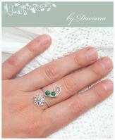 malachit silver ring jewelry inel argint bijuterii malahit on