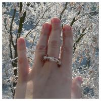 Teoria haosului inel goldstone maro roscat bijuterii argintate sarma argintata pietre semipretioase handmade zapada