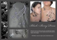 07 Blackberry Dress bijuterii argintate de autor handmade colier accesoriu par sarma argint pietre semipretioase onix negru