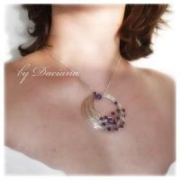 Pandantiv ametist violet bijuterii argintate sarma argintata pietre semipretioase handmade