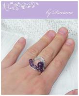 bijuterii handmade jewelry inel ametist ring vintage pietre semipretioase stones argint 925