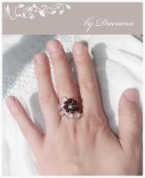 bijuterii handmade jewelry inel granate garnet ring pietre semipretioase argint 925