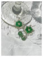 cercei argintati bijuterii argintate agata verde jad sarma argintata bijuterii handmade