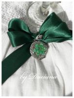pandantiv argintat bijuterii argintate agata verde jad sarma argintata bijuterii handmade panglica de organza