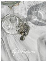 pandantiv bijuterii argintate cristale boemia bijuterii handamde hematit gri