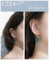 turcoaz bijuterii handmade silver labradorit jewelry cercei angelit earrings argint 925