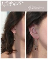 visiniu bijuterii handmade jewelry cercei granate garnet earrings pietre semipretioase argint 925
