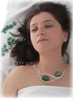 colier agata verde bijuterii handmade jewelry sarma argintata pietre semipretioase
