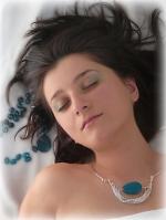 colier sarma argintata bijuterii handmade jewelry agata albastra