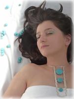 colier turcoaz bijuterii handmade sarma argintata pietre semipretioase