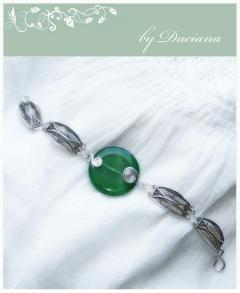 bijuterii argint 925 agata verde bratara handmade