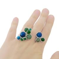 bouquet inel sarma argint apatit jad verde agate albastre turcoaz 3