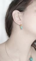 sarma gilt aurita bijuterii handmade jewelry cercei earrings turcoaz si jasp