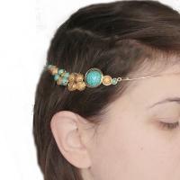 sarma gilt aurita bijuterii handmade jewelry colier necklace golden wire turcoaz si jasp