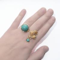 sarma gilt aurita bijuterii handmade jewelry inel ring turcoaz si jasp