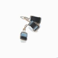 bijuterii handmade jewelry cercei pandantiv earring pendant sarma alama aurita hematit