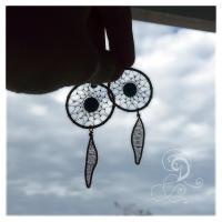 dream catcher bijuterii handmade jewelry turqouise earrings cercei turcoaz sarma cupru