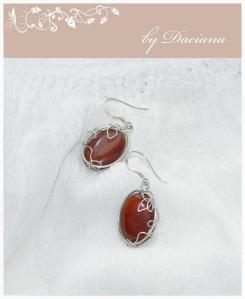 cercei jasp rosu red jasper earrings bijuterii handmade jewelry argint 925 silver