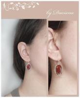 cercei jasp rosu red jasper earrings bijuterii handmade jewelry argint silver