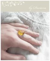 inel cristal Boemia auriu golden Bohemia crystal vintage element silver argint bijuterii handmade jewelry