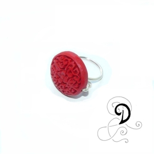 bijuterii-inel-handmade-ring-jewelry-cinambru-coral-rasina-sarma-argintata-silver-plated-wire-tibet