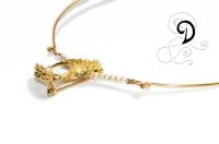colier aurit bijuterii handmade jewelry gold plated necklace