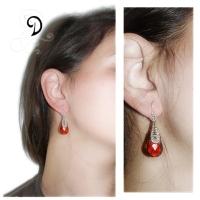 vintage handmade Bohemia crystal silver earrings jewelry bijuterii cercei argint 925 cristal de Boemia copy