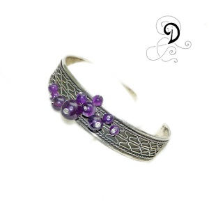 bijuterii handmade jewelry amethyst bracelet bratara ametist vintage argint 925