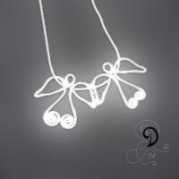 ingeri pandantiv placat argint sliver plated pendant bijuterii handmade jewelry angels