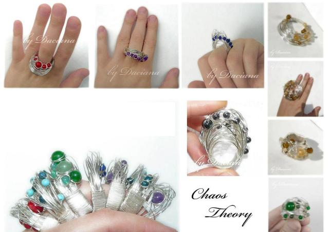 Portofolio 3 - Teoria Haosului bijuterii handamde jewelry argint 925 sarma placata argint pietre semipretioase sterling silver plated wire semiprecious stones autor