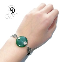 verde bratara vintage filigran bracelet agata verde bijuterii handmade silver jewelry argint 925 sarma argint