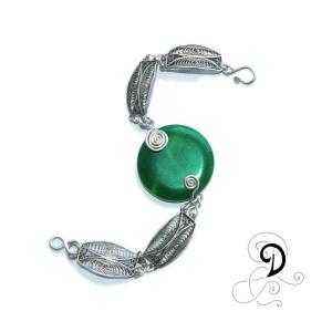 verde bratara vintage handmade agata verde bijuterii handmade argint 925 sarma argint