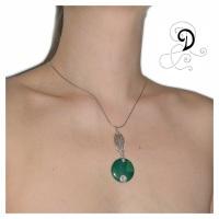verde pandantiv vintage handmade pendantagata verde bijuterii handmade silver jewelry argint 925 sarma